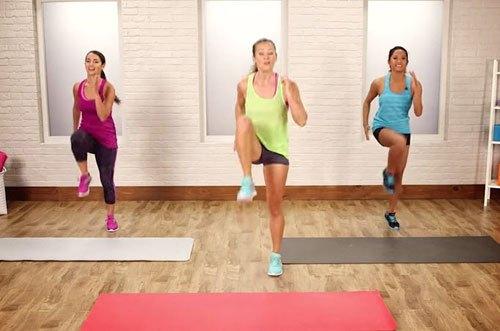 aerobic chạy nâng cao đùi