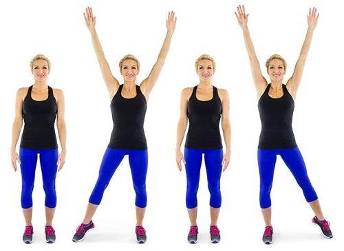 aerobics step jack