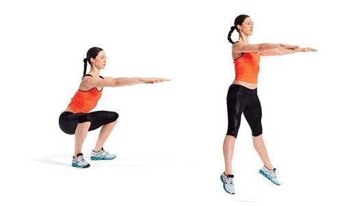 bật cao squat aerobic