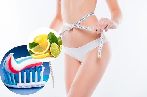 cách giảm béo bằng kem đánh răng