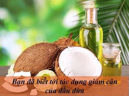 giảm cân bằng dầu dừa 1