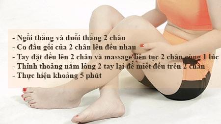 cách giảm mỡ bắp chân bằng massage - động tác 3