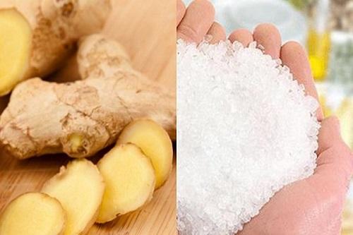 cách làm tan mỡ bụng bằng muối và gừng