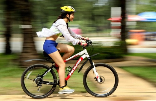 đạp xe đạp có giảm mỡ bụng không