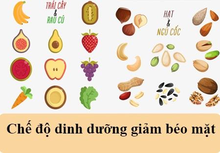 chế độ dinh dưỡng giảm béo mặt 3