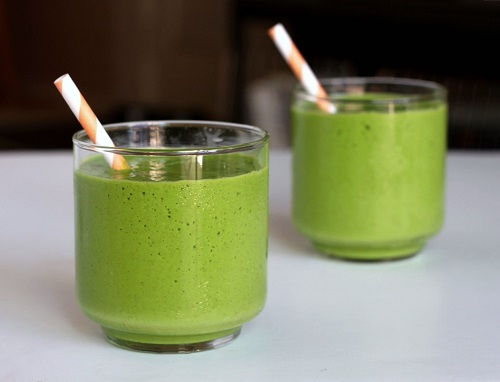 giảm cân bằng bột trà xanh và sữa