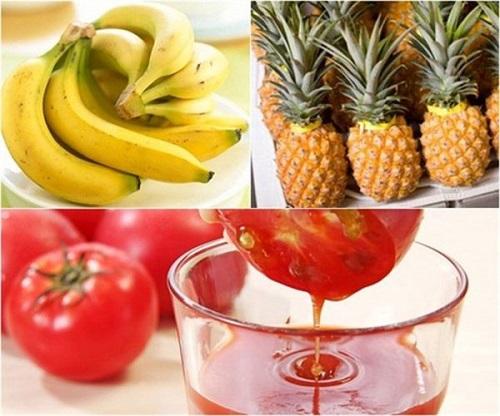 giảm cân bằng chuối dứa cà chua