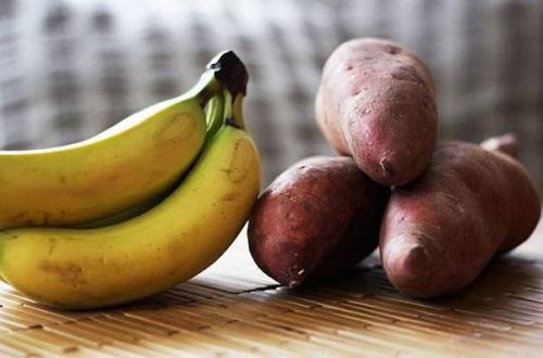 giảm cân bằng chuối và khoai lang