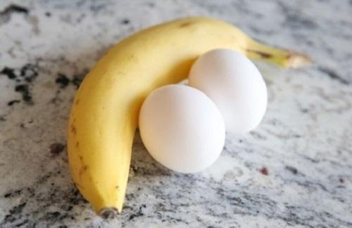 giảm cân bằng chuối và trứng gà