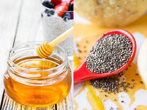 giảm cân bằng mật ong và hạt chia