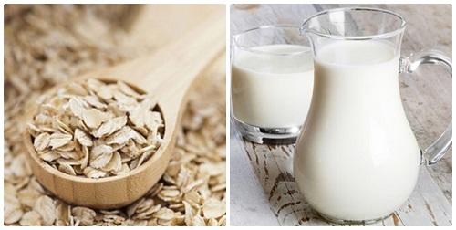 giảm cân với yến mạch và sữa