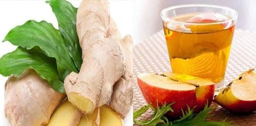 giấm táo và gừng giảm cân