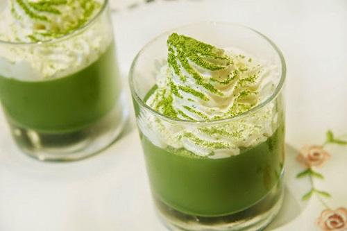 sinh tố trà xanh giảm cân