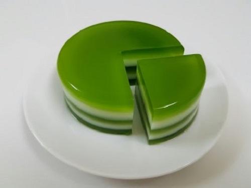 thạch rau câu trà xanh giảm béo