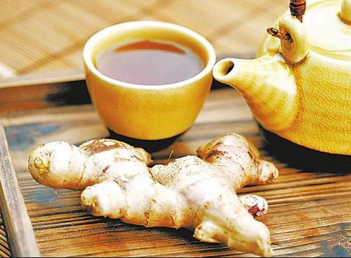 trà xanh gừng giảm cân