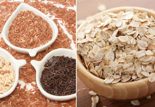 yến mạch và gạo lứt giảm cân